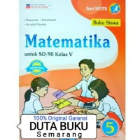 Buku Siswa Matematika SD Kelas V / 5 Kurikulum 2013 Mediatama Suparmin