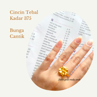 Cincin Bunga Model 24k hongkong emas asli toko emas 375