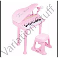 Mainan Piano Anak One set lengkap dengan Music,bangku,dan Microphone