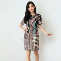 Baju Batik Modern-Dress Batik Wanita Motif Terbaru 607