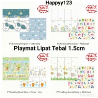 Playmat Lipat Tebal 1.5cm XPE Baby Angels Karpet Matras Anak Bayi