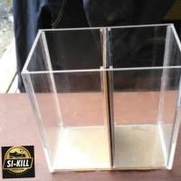 Soliter ikan cupang acrylic/aquarium cupang akrilik sekat 2 kamar 2mm