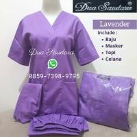 Baju Jaga /Baju Ok /Lengan Pendek/Merk Dua Saudara /Lavender/ - S