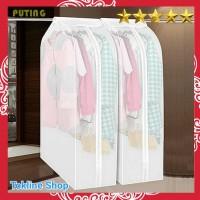 Cover Pakaian Anti Debu Organizer Baju Gantungan Hanger Lemari Plastik
