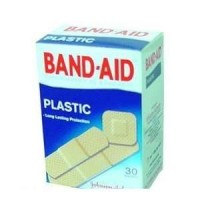 BAND AID PLASTIC ASSORTED SIZES, J&J, PACK OF 30 (2 COUNT BOXES) WHOLE