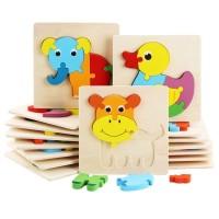 Puzzle Kayu Anak Jigsaw untuk Batita/Balita First Step Puzzle