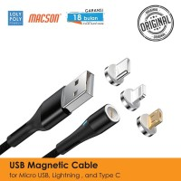 LOLYPOLY Kabel Data 3in1 Magnetic Fast Charging Micro USB/TypeC/Iphone