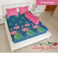 bed cover lady rose tanpa sprei uk 180x200 motif flamingo