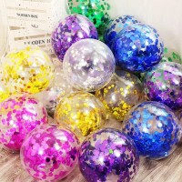 Balloon Latex Transparent 12Inch with Confetti / Hiasan Balon Pesta