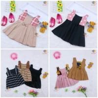 Baju Anak Dress Clairine Baby uk 0-6 Bulan / Pakaian Anak Perempuan