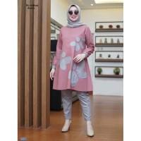 Baju Setelan Muslim / Setelan Tunik + Celana -st trifani