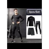 Paket Baju Olahraga Cowo / Cewe (3 Set) (Nike)