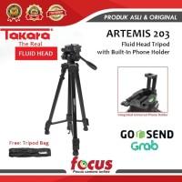 TRIPOD Takara Artemis 203 Plus HOLDER U Handphone With Fluid Head