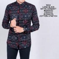 Baju Kemeja Batik Songket Formal Pria Kemeja Santai Kemeja Casual