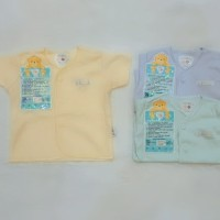 baju pendek bayi nb polos libby