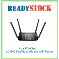 ASUS RT-AC59U Dual Band Gigabit Wireless Router AC1500 with MU-MIMO
