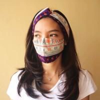 Set Masker dan Bandana Kain Motif Batik Etnik (Serat Motif)