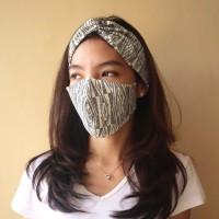Set Masker dan Bandana Kain Motif Batik Etnik (Tumtum)