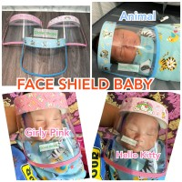 Face Shield Bayi Baby Faceshield New Born Bahan Lembut PVC jernih