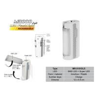 M2000 LED SMD + SUPER LED FASHLIGHT RECHARGEABLE/Lampu Belajar MR-5181