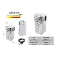 Lampu Senter Emergency M2000 LED Super MR-924-E