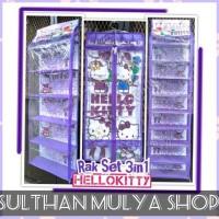 Tamiimah27 Rak Gantung Set 3In1 (Tas,Sepatu,Jilbab) - Hello Kitty Ungu