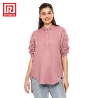 Ramayana - JJ Jeans - Kemeja Rayon Oversize Wanita 71271-R Dusty Pink