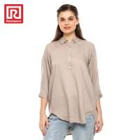 Ramayana - JJ Jeans - Kemeja Rayon Oversize Wanita 71271-R Coklat