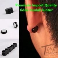 Anting Pria Magnet Kualitas Premium Import Bukan Piercing Tanpa Tindik