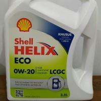Oil Oli SHELL HELIX ECO CAR LCGC SAE 0W-20 API SN GF-5 GALON 3.5 LITER