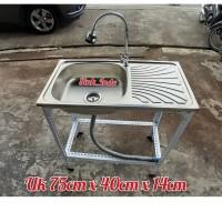 Bak Cuci Piring Portable Westafel Kaki Kitchen Sink Rak Cuci Piring 75