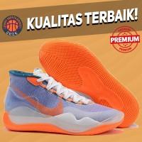 Sepatu Basket Sneakers Nike KD 12 Skills Academy Purple Orange Grey