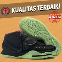 Sepatu Basket Sneakers Nike Kyrie 6 Black Green Yeezy Pria Wanita