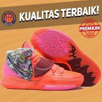 Sepatu Basket Sneakers Nike Kyrie 6 Preheat Berlin Orange Pink