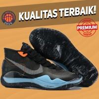 Sepatu Basket Sneakers Nike KD 12 XII Black Blue Pria Wanita
