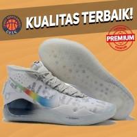 Sepatu Basket Sneakers Nike KD 12 XII White Multicolor Pria Wanita