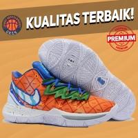 Sepatu Basket Sneakers Nike Kyrie 5 Pineapple House Orange Spongebob