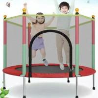 Trampolin trampoline anak dengan jaring mainan anak perempuan laki 55