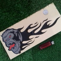 BAD APE FLAME COLOUR decal & cutting sticker mobil & motor