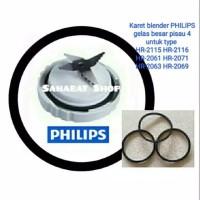 Seal karet blender PHILIPS gelas besar HR 2115 2116 2061 2071 2063 206