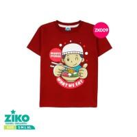 Kaos/Baju Anak ZIKO Always Syukur Merah Maroon