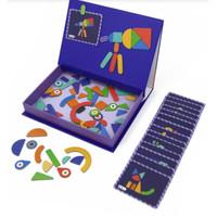Magnetic Art Case mierEdu - Shapes   Mainan Edukasi Magnetic Puzzle