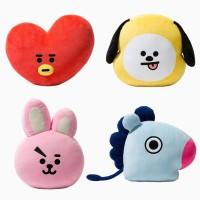 KPOP BTS BT21 Plush Toy Pillow Cute Doll Cushion TATA SHOOKY RJ Van