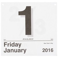 AT-A-GLANCE Today Is Daily Wall Calendar Refill 2016, January - Decemb