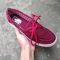 Sepatu Vans Zapato Port Royale Red Maroon White BNIB Ori Pre