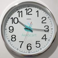 Jam Dinding SAKANA 715 Warna Putih Chrome Ukuran 50 cm - Putih LARIS