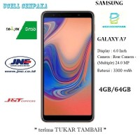 SAMSUNG Galaxy A7 2018 - 4GB-64GB - Blue - Garansi Resmi