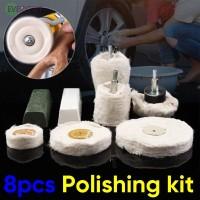 Alat Poles / Pel Bentuk Silinder Bahan Stainless Steel Warna Putih