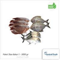 Paket Ikan Bakar Segar 1 - 3000 gram