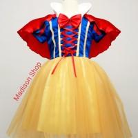 Kostum Snow White Jubah Merah Baju Princess Cosplay Dress Pesta Anak - 130